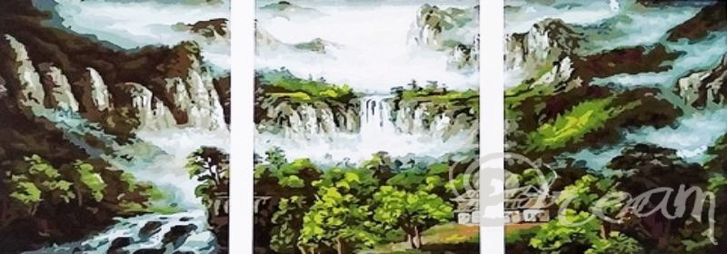 "Фото Картина по номерам – триптих ""Водопад"""