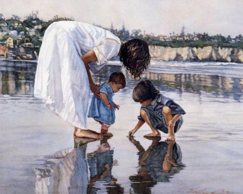 "Фото Картина по номерам ""Мама с детьми"""