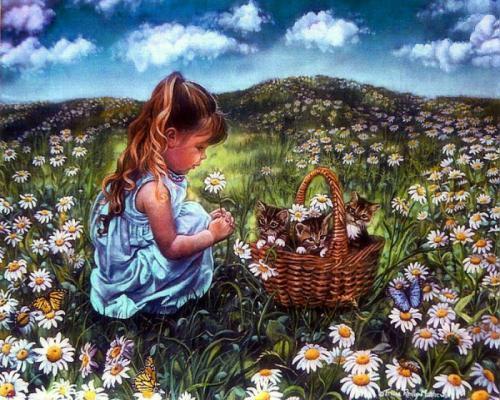 """Фото Картина по номерам """"Девочка в поле"""""""