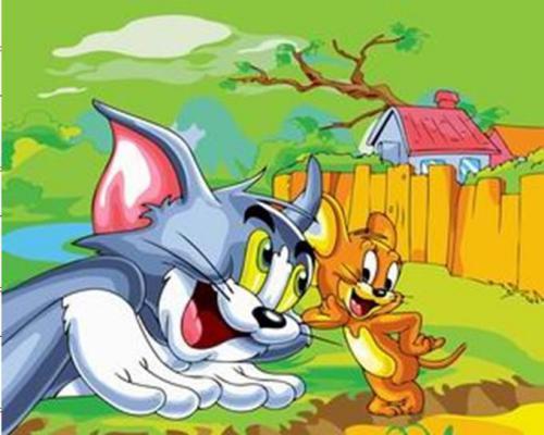"Фото Картина по номерам ""Том и Джери"""
