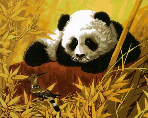 """Фото Картина по номерам """"Панда из мультика"""""""