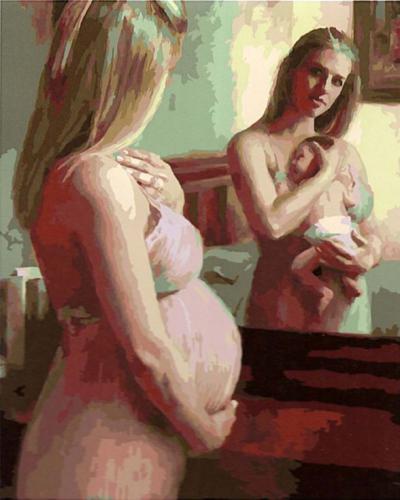 """Фото Картина по номерам """"Материнство"""""""
