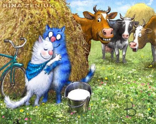 """Фото Картина по номерам """"Коты на сеновале"""""""