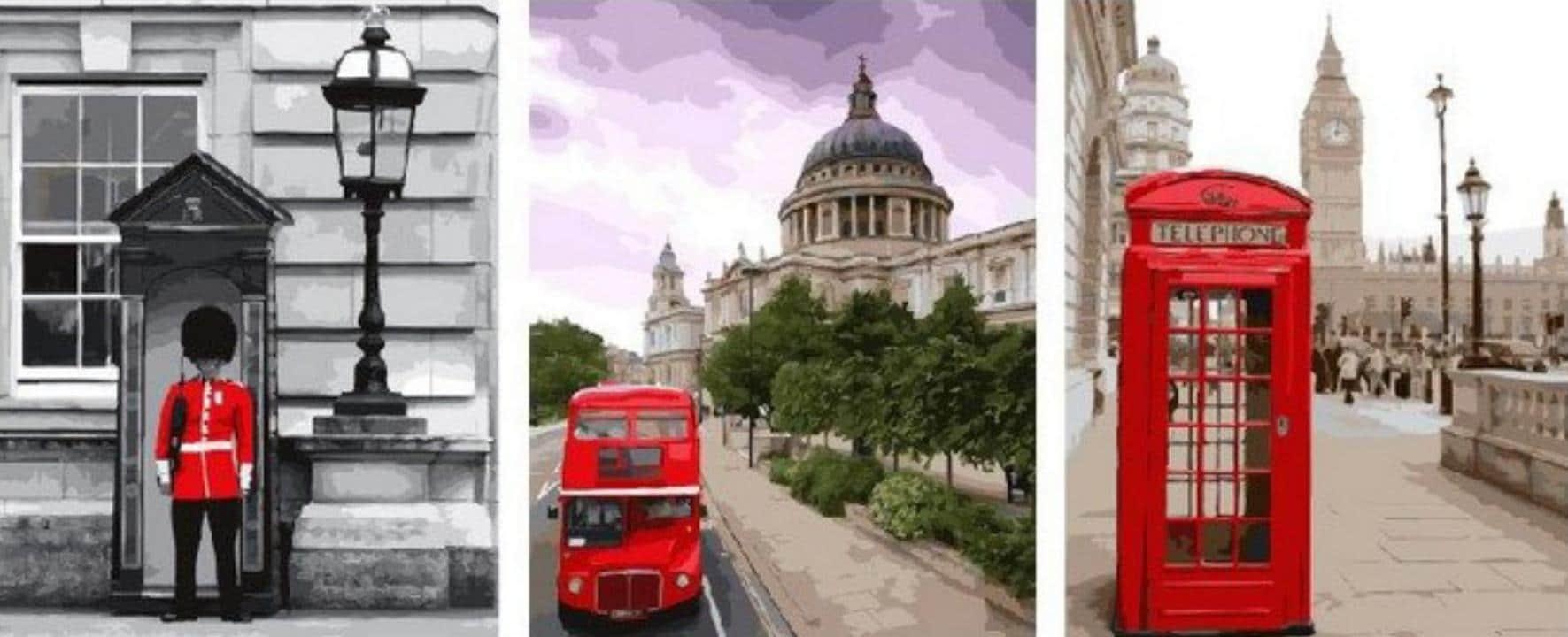 "Фото Триптих по номерам ""Лондон"""
