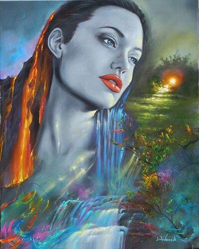 "Фото Картина по номерам ""Анжелина Джоли"""