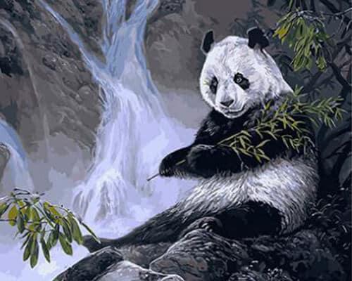 """Фото Картина по номерам """"Панда в горах"""""""