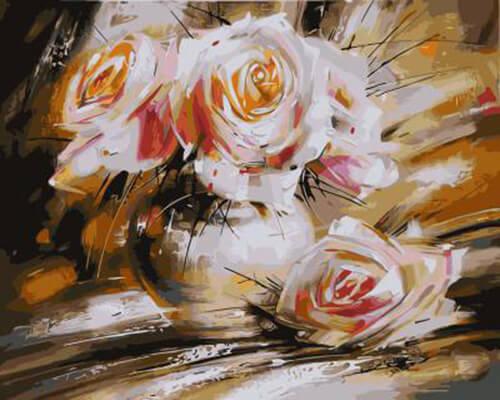 """Фото Картина по номерам """"Розы абстракция"""""""